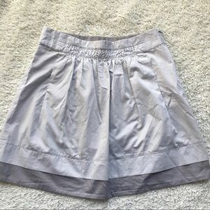 J crew short skirt gray cotton sz 6 medium